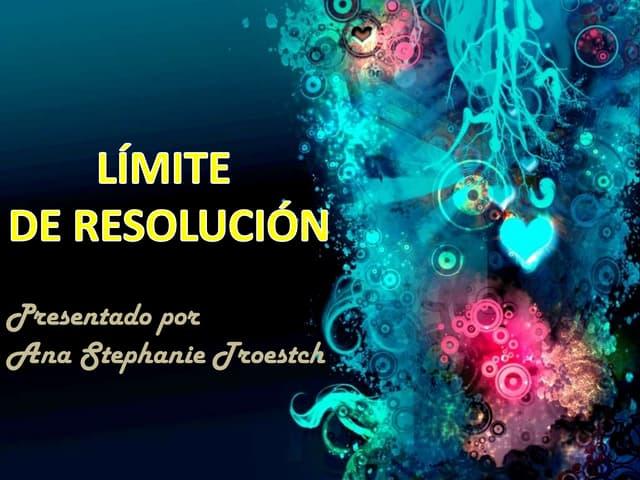 Limite De Resolución