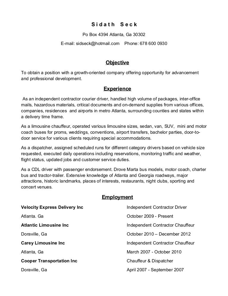 Driver CV Examples     Cover Letters and CV Examples toubiafrance com