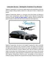 Limousine Service - Getting the Treatment You Deserve