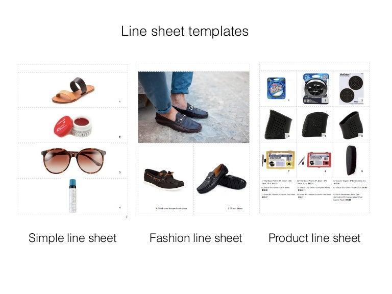 fashion linesheet