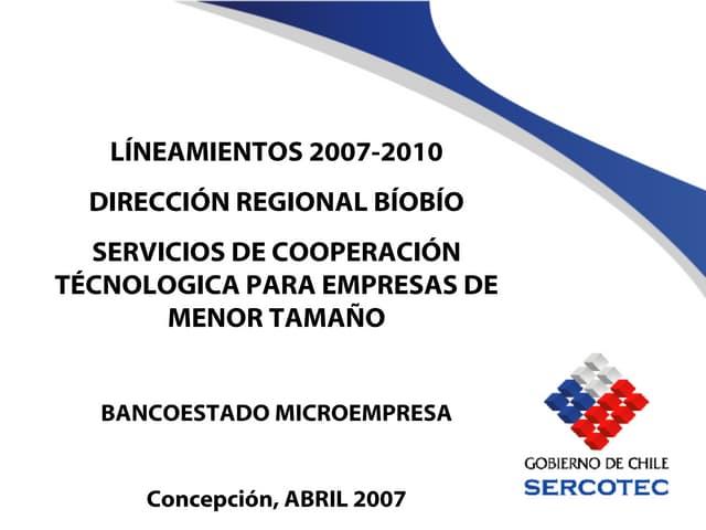 Lineamientos Sct Biobio 2007