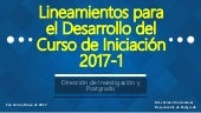Lineamientos curso de iniciación 2017 1