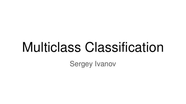 Linear models and multiclass classification