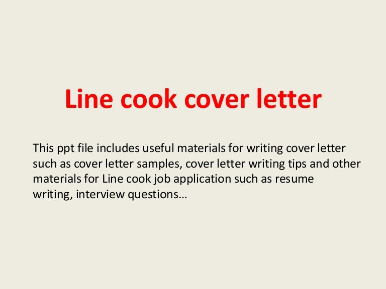 line cook cover letter When you write a cover letter for a waiter job, it's important to highlight the skills you have that match the job requirements listed in the job posting your resume should include your most relevant work experience, typically in chronological order.