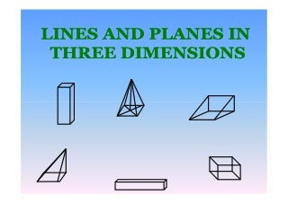 Line Plane In 3 Dimension