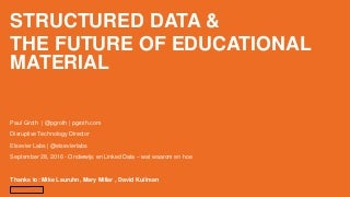Structured Data & the Future of Educational Material