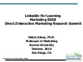 LinkedIn for Learning:  Personal branding in the classroom
