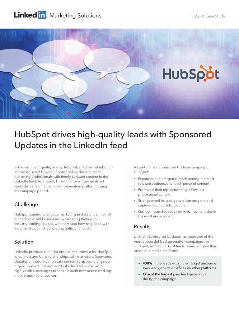 hubspot case analisys Hubspot case analysis case solution, introduction the paper attempts to describe the background of the business situation faced by hubspot along with the major challenges and probl.