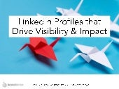 LinkedIn Profile Tips (Updated)