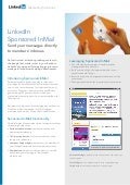 Marketing Solutions LinkedIn Sponsored InMail product sheet
