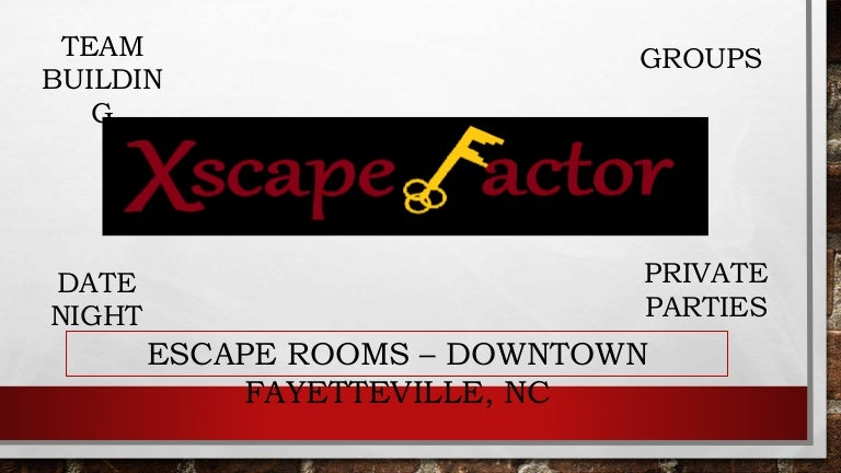 Xscape Factor Escape Rooms Downtown Fayetteville Nc