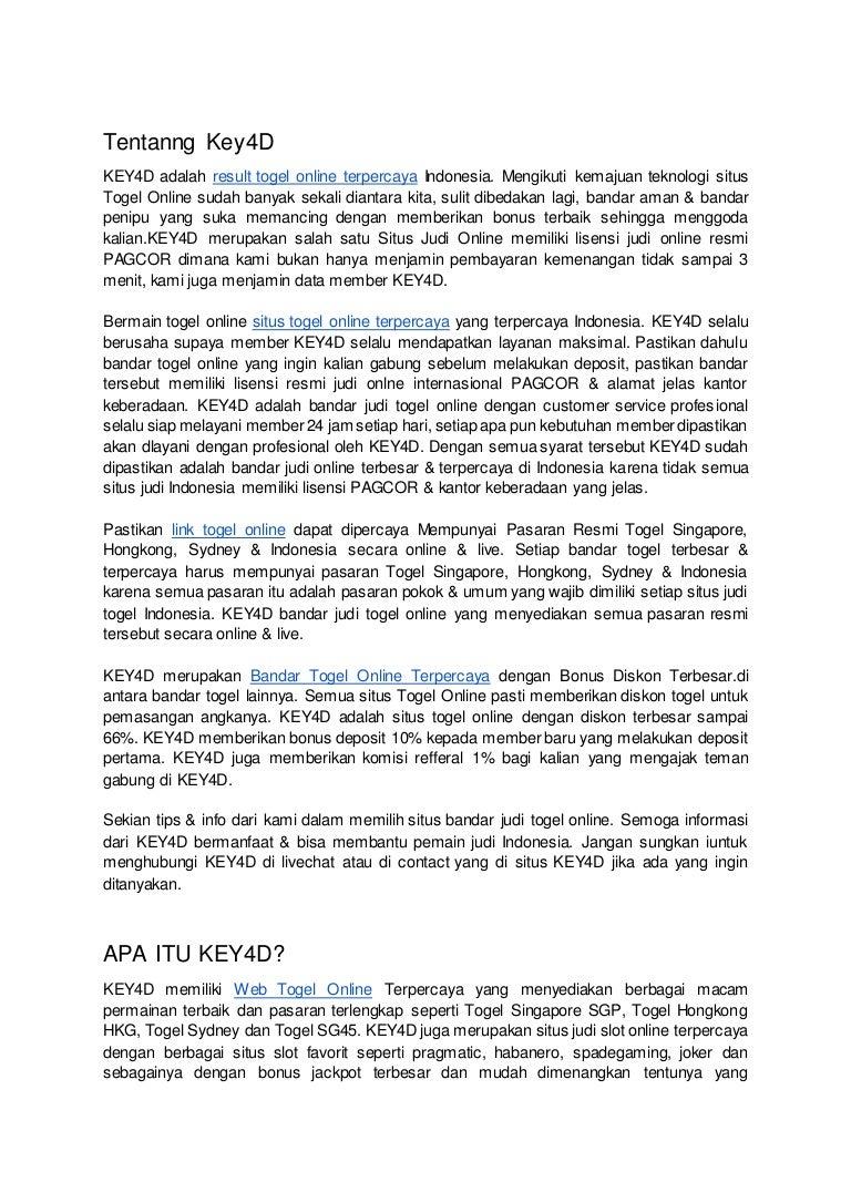 Link Togel Online Terpercaya Key4d