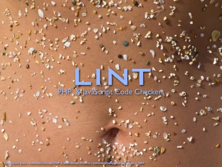 Lint - PHP & Javascript Code Checking