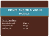 Lintner  and mm dividend models