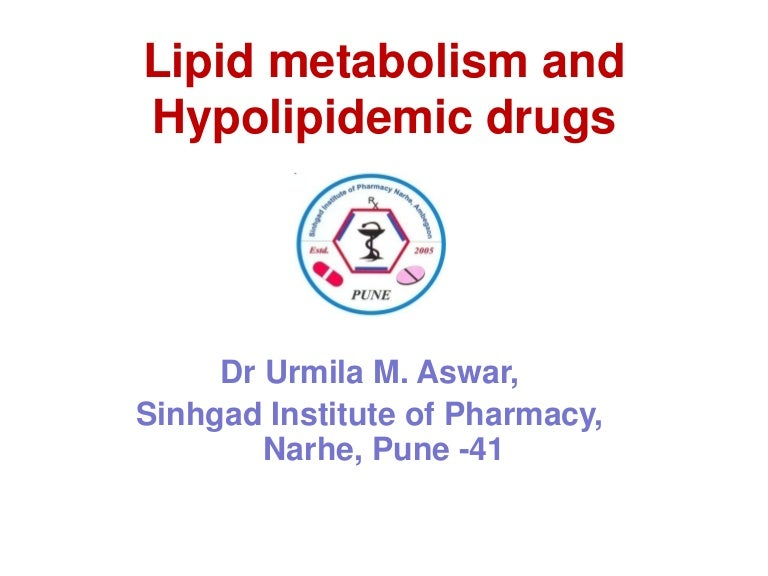 Lipid regulating drugs
