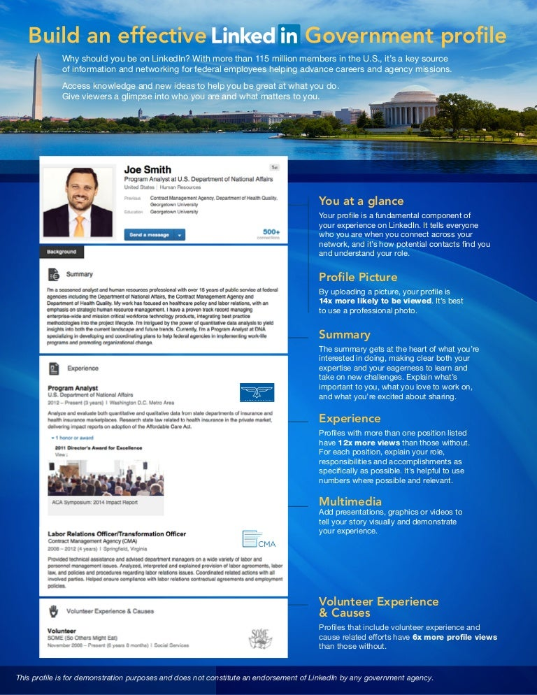 Linkedin Profile Tip Sheet For Government Employees
