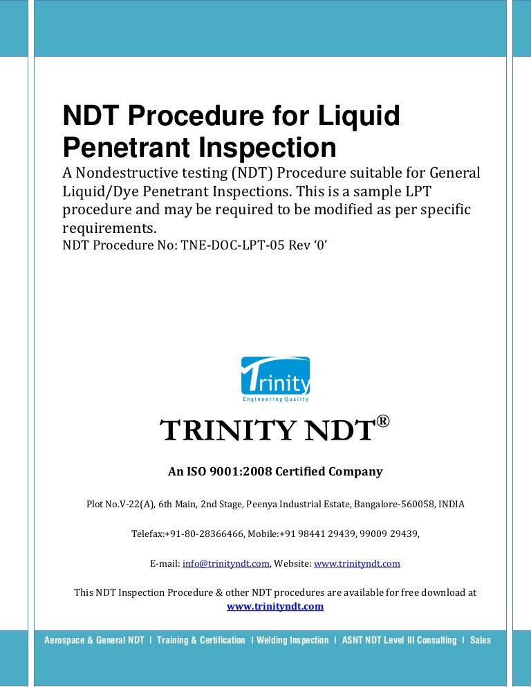 Bangkok Liquid penetration inspection calibration ass inviting