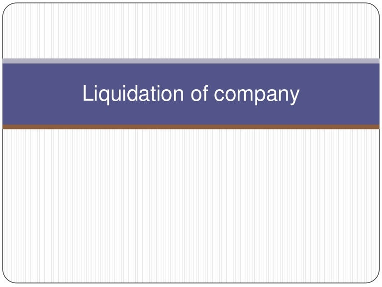 Liquidating equity definition government