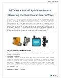 Liquid Flow Meters - Proteus Industries