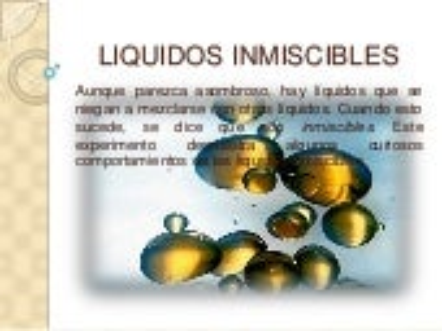 Liquidos inmiscibles