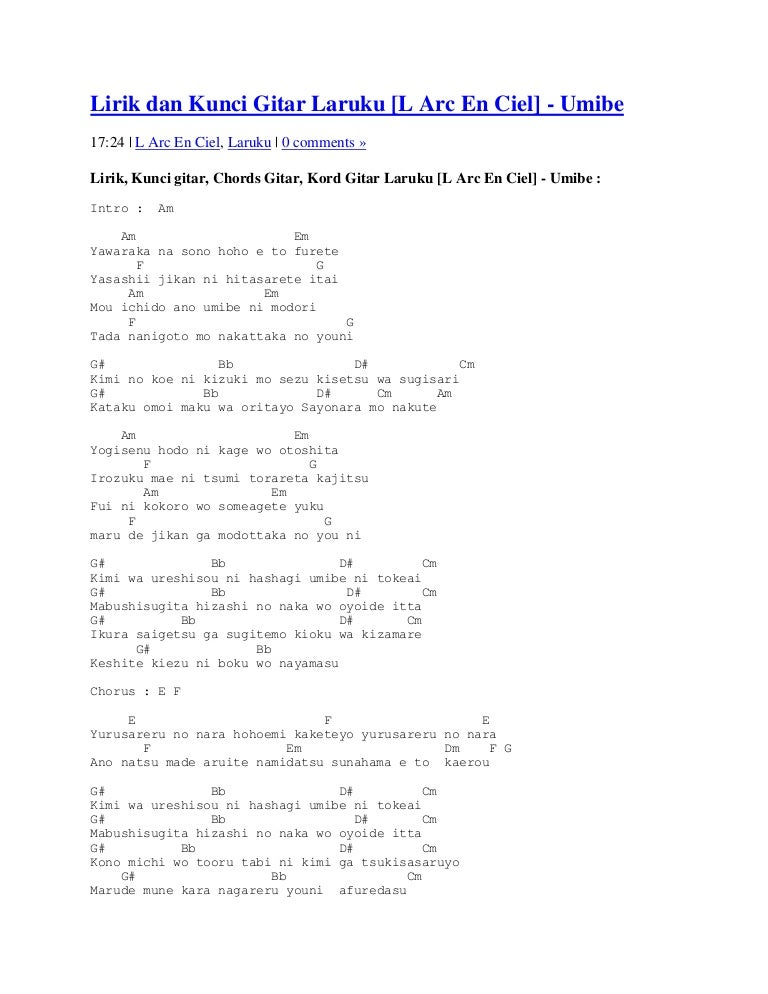 Lirik dan kunci gitar laruku reheart Image collections