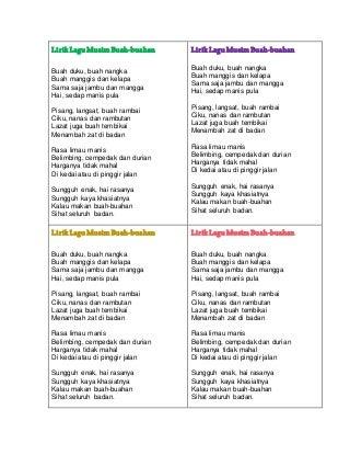 Lirik lagu buah buahan