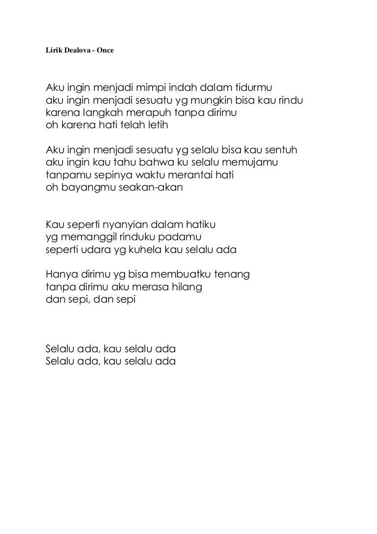 Lirik Lagu Dealova