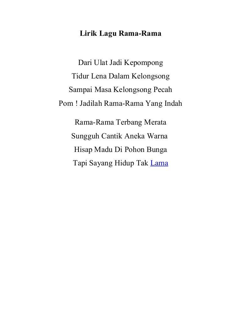 Lirik Lagu Rama