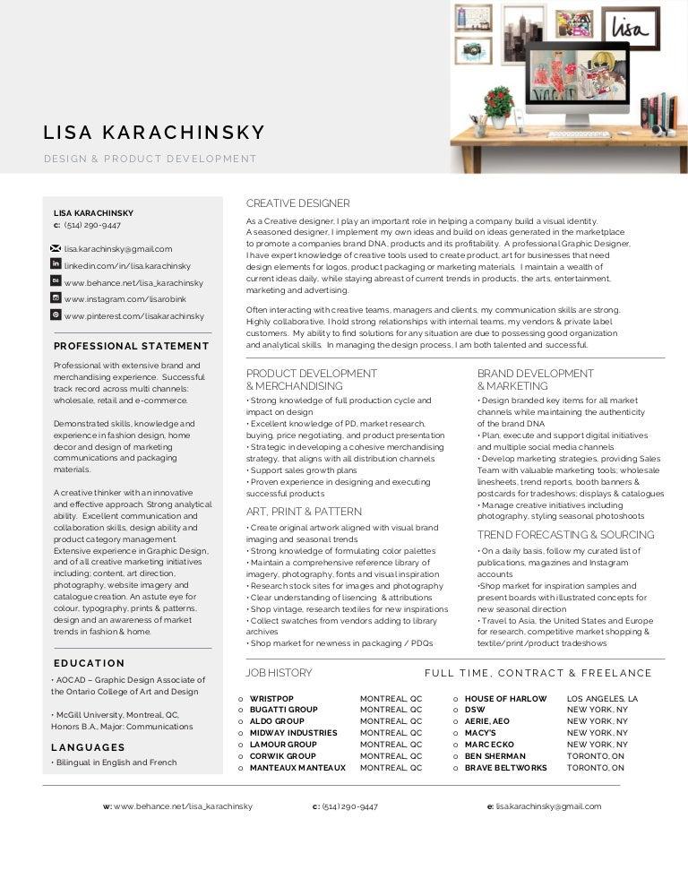 Creative Designer Product Development Merchandising And Digital Mar