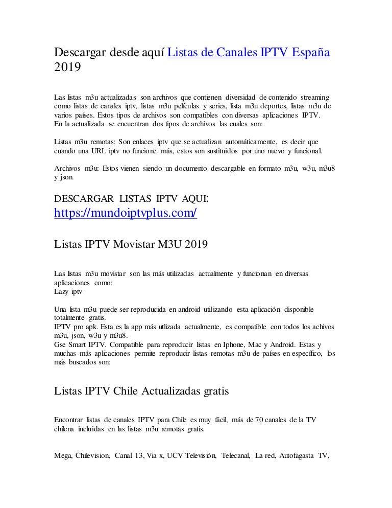 Cómo Actualizar Las Mejores Listas Iptv Actualizadas Remotas 2019