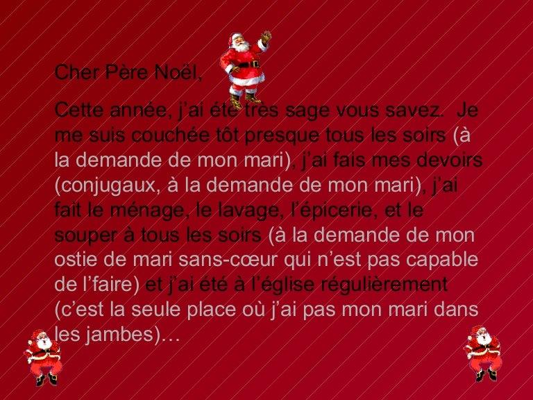humour lettre au pere noel Liste Dune Femme Au Pere Noel humour lettre au pere noel