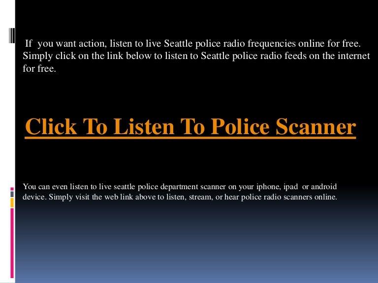 Seattle Police Scanner Free   Listen Seattle Police Scanner Online