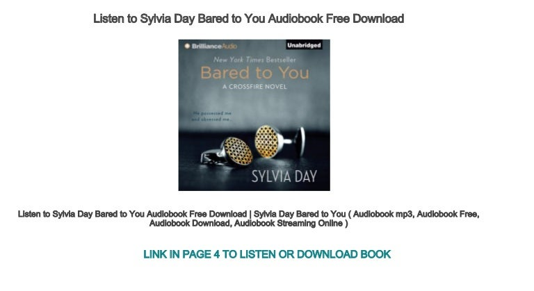 bared to you sylvia day audiobook free download
