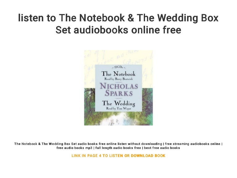Download the notebook audiobook free mp3 online streaming.