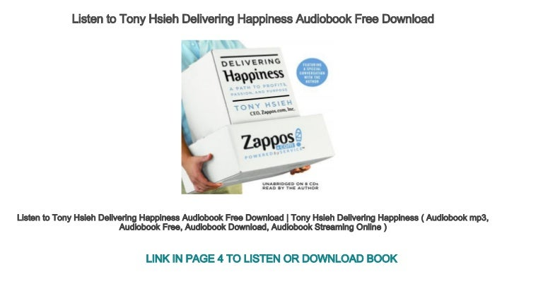 Delivering happiness audiobook free   delivering happiness ( free bo….