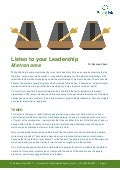 Listen to your leadership metronome