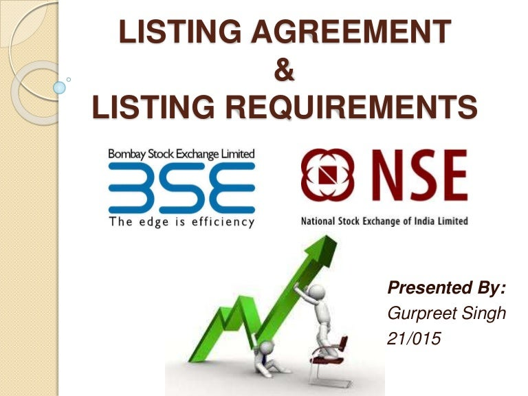 Agreement and listing requirements listing agreement and listing requirements platinumwayz