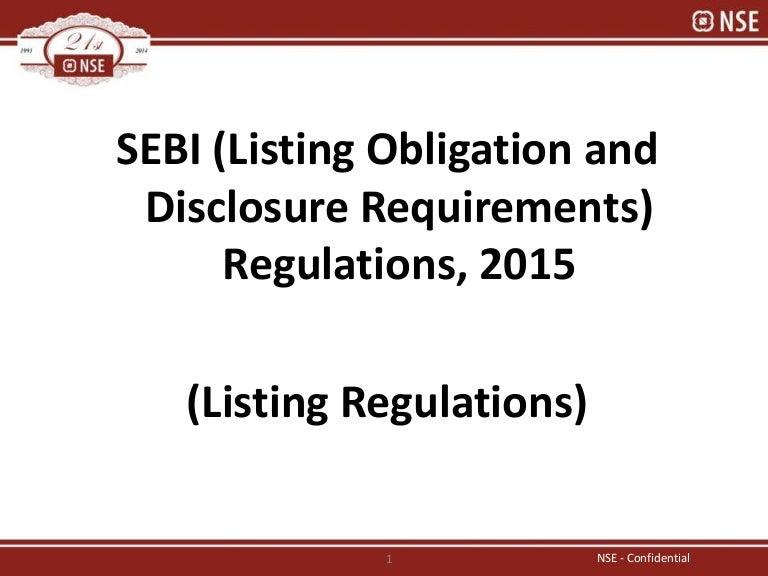 Listing Regulation Overview