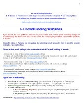 List of CrowdFunding Websites and much more!