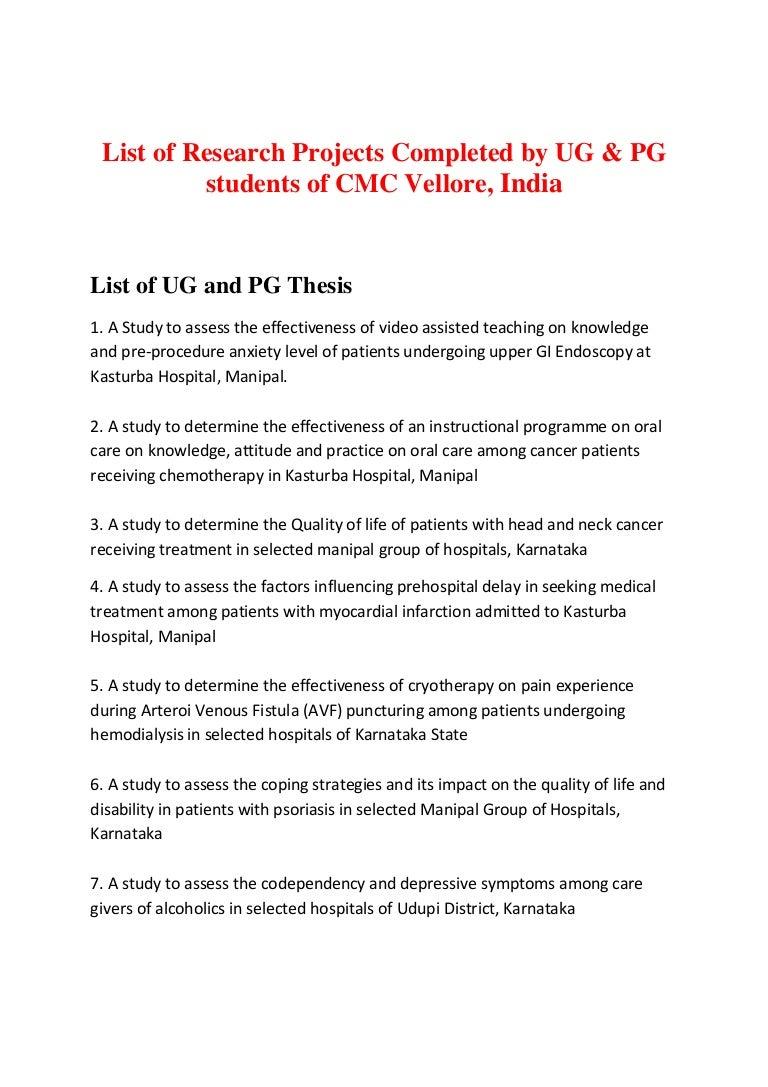 rguhs dissertation topics in paediatric nursing