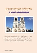 List of top 10 best places to visit in paris