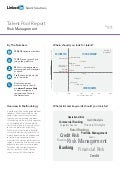 Europe Risk Management | Talent Pool Report