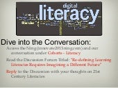 Digital Literacy, Innovate 2013 Presentation