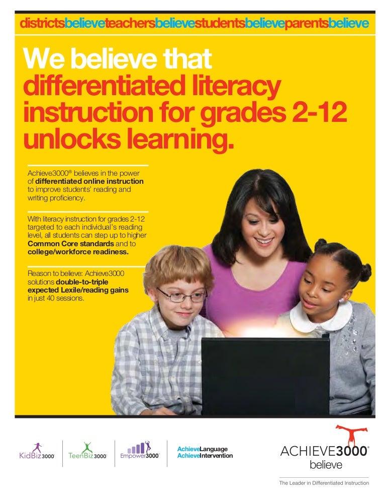 Achieve3000 Literacy Solutions Brochure