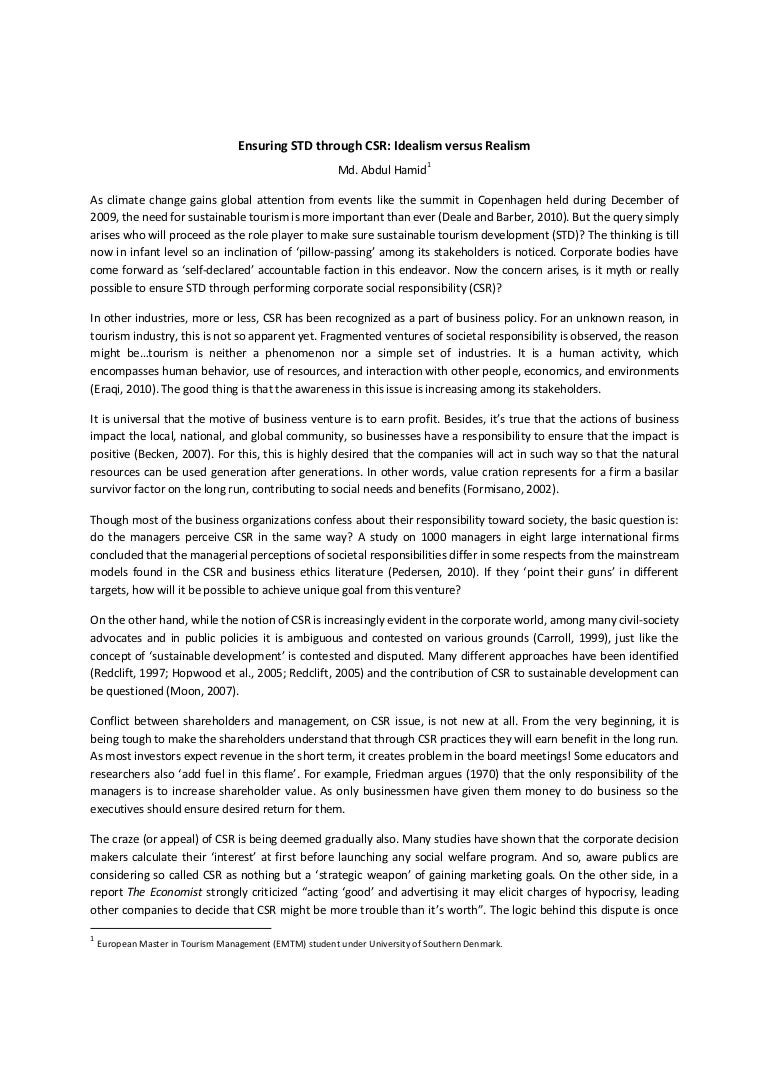 literature review csr