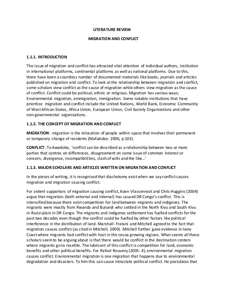 literature review on conflict of interest