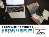 Writing A Literature Review: A Quick Guide