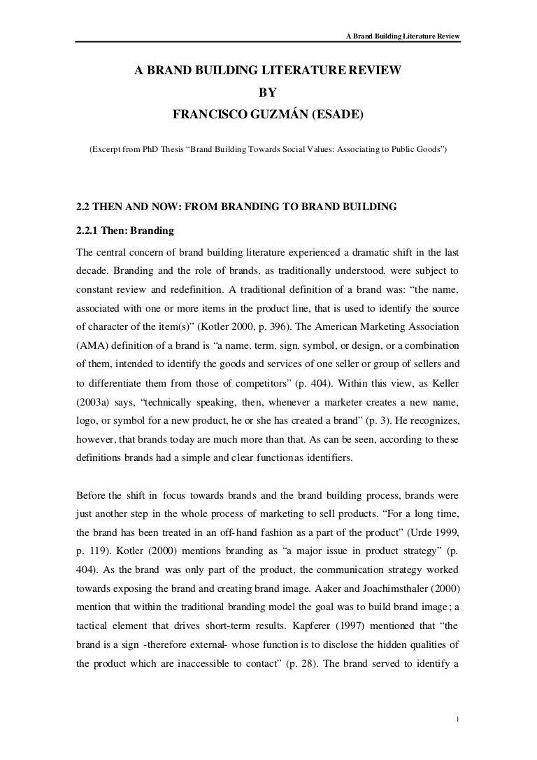 building literature review