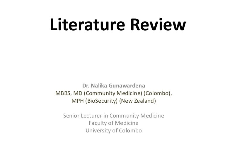 sample literature review apa format