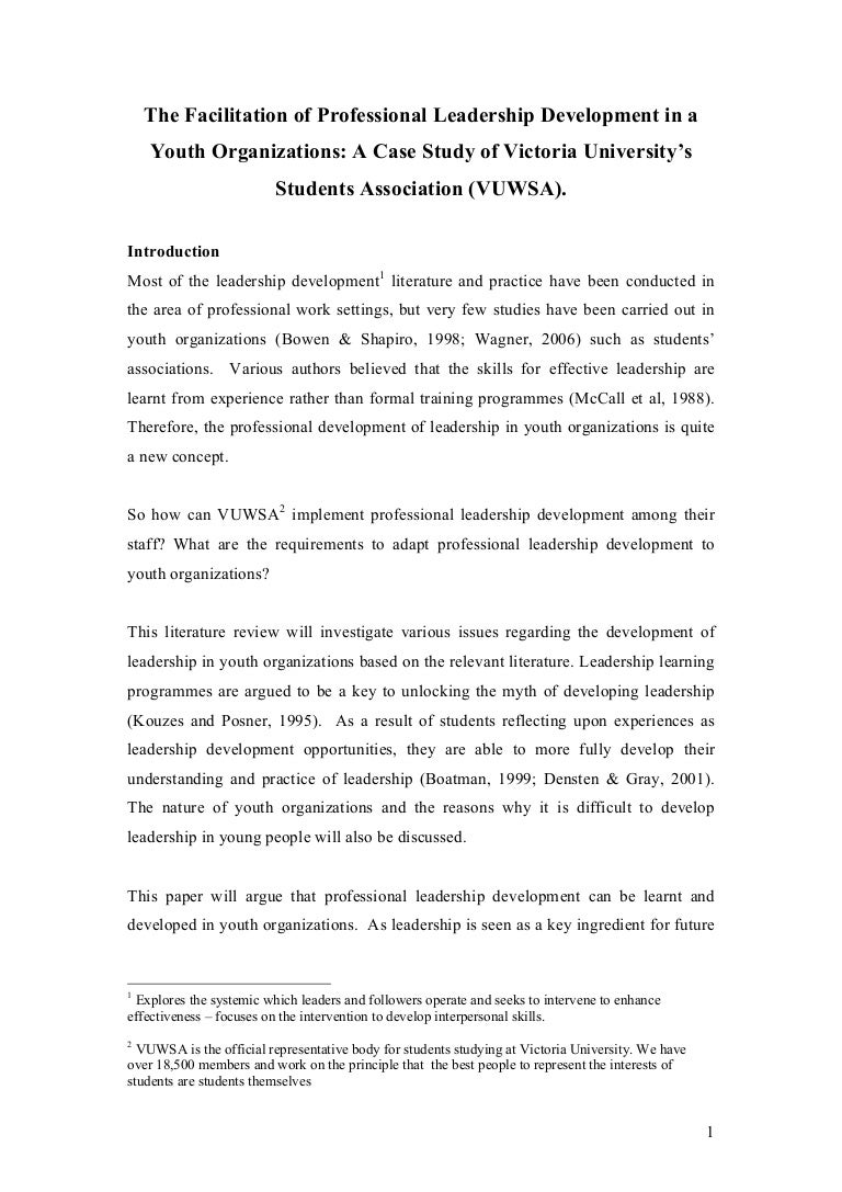 sample leadership essay literature review on youth leadership  literature review on youth leadership sample
